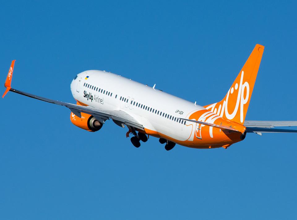 SkyUp начнет выполнять два внутренних рейса из Запорожья