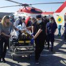 Вертолет ГСЧС доставил пострадавшего в ДТП во Львов