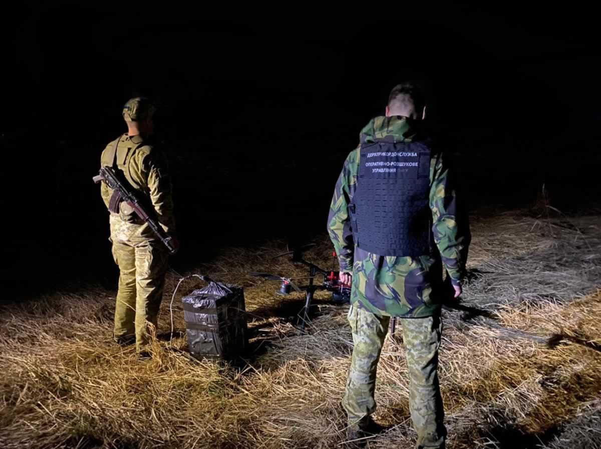 Пограничники обнаружили очередной беспилотник контрабандистов