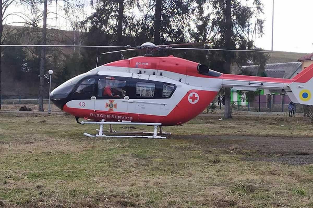 Во Львовской области провели первую авиаэвакуацию