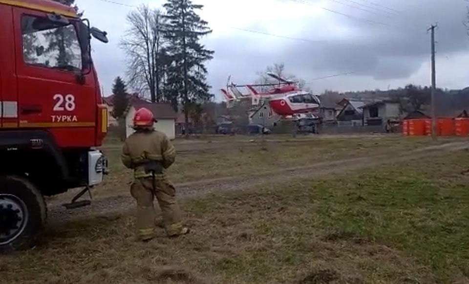Вертолет выполнил очередную аэромедицинскую эвакуацию