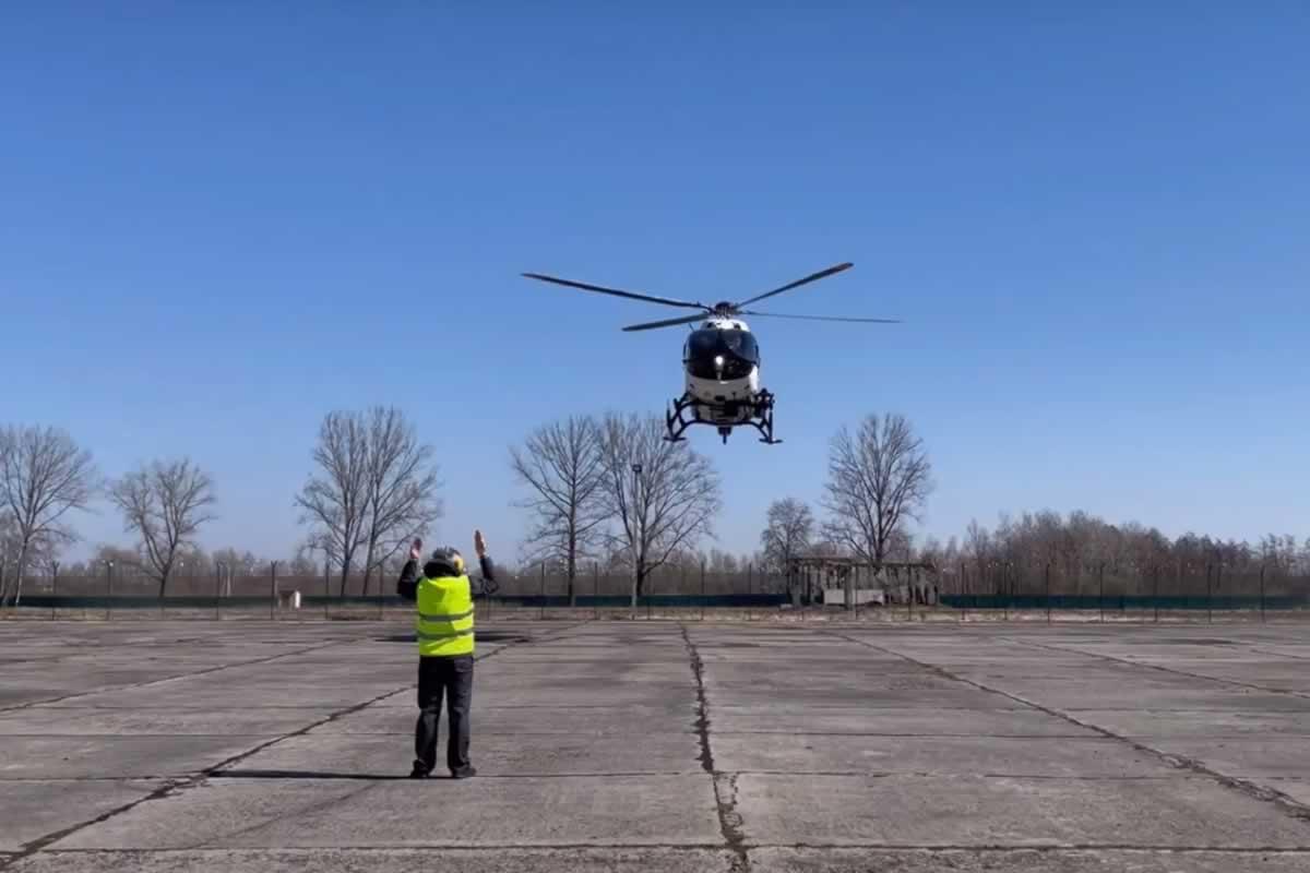 Вертолет для аэромедицинской эвакуации прибыл во Львов