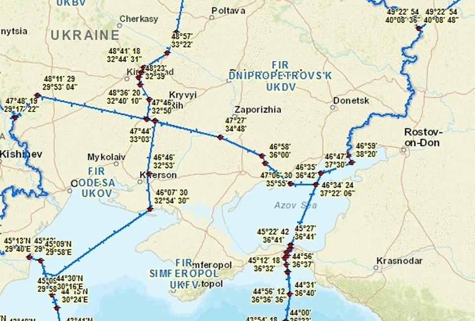 РФ ввела ограничения на полеты над частью оккупированного Крыма и Черного моря