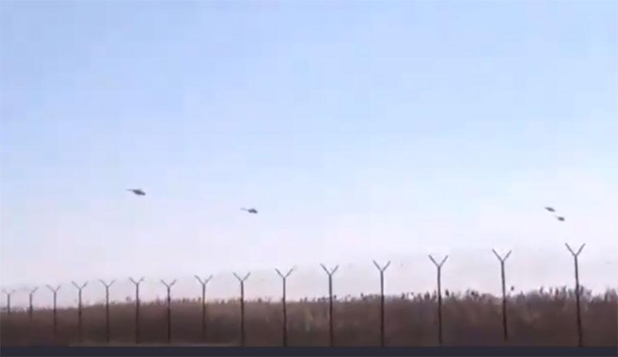 Вблизи границы заметили российские вертолеты